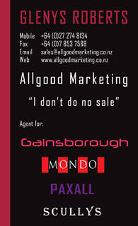 Glenys Roberts Allgood Marketing back