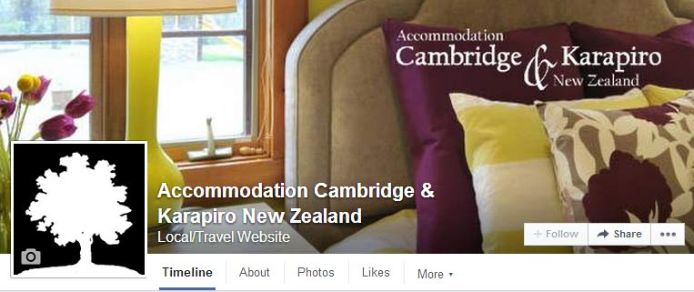 Accommodation Cambridge & Karapiro New Zealand